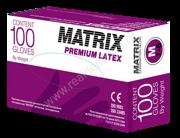 Перчатки латексные MATRIX premium-latex
